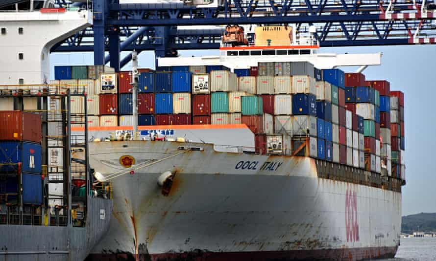 A container ship is loaded at Port Botany in Sydney. Australia is highly dependent on China for both imports and exports.
