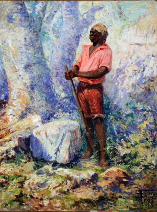 Zumbi dos Palmares (1927) by painter Antônio Parreiras, kept in the Museu do Ingá.