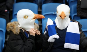 Lifesize seagulls provided what atmosphere there was at Brighton when games resumed last season.