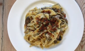 Tim Dowling's take on Claire Saffitz's pappardelle with prosciutto and mushrooms.