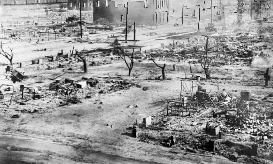 The aftermath of the Tulsa Race Massacre.