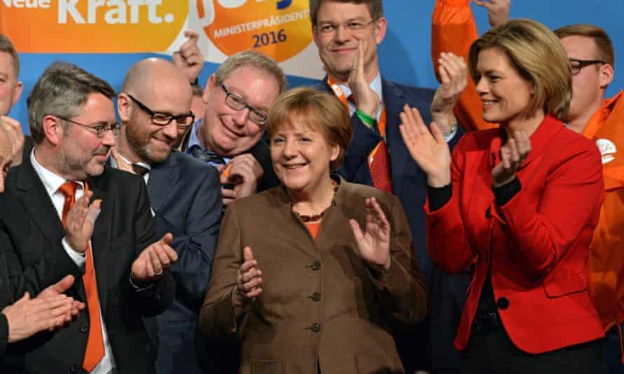 Angela Merkel campaigns in Rhineland-Palatinate