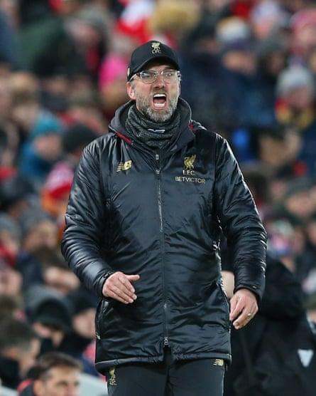 The Liverpool manager, Jürgen Klopp