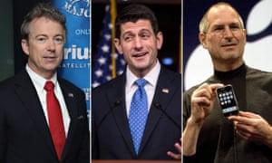 Rand Paul, Paul Ryan and Steve Jobs