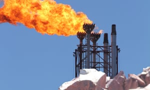 flames from LNG plant at Burrup Peninsula , Western Australia
