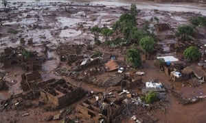 The remains of homes in Minas Gerais state, Brazil, a day after the BHP-owned dam collapsed
