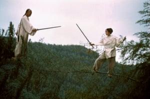 Chow Yun-Fat and Zhang Ziyi in Crouching Tiger, Hidden Dragon.