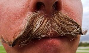 Moustache selfie.