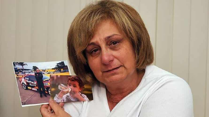 Adriana Buccianti holds an image of her son Daniel, who overdosed and died after taking drugs at the Rainbow Serpent festival in Victoria in 2012. She has become an advocate for pill-testing at music festivals.
