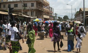 Shoppers in Banjul, the Gambia's capital.