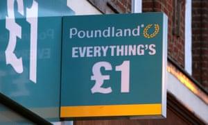 Poundland sign outside shop