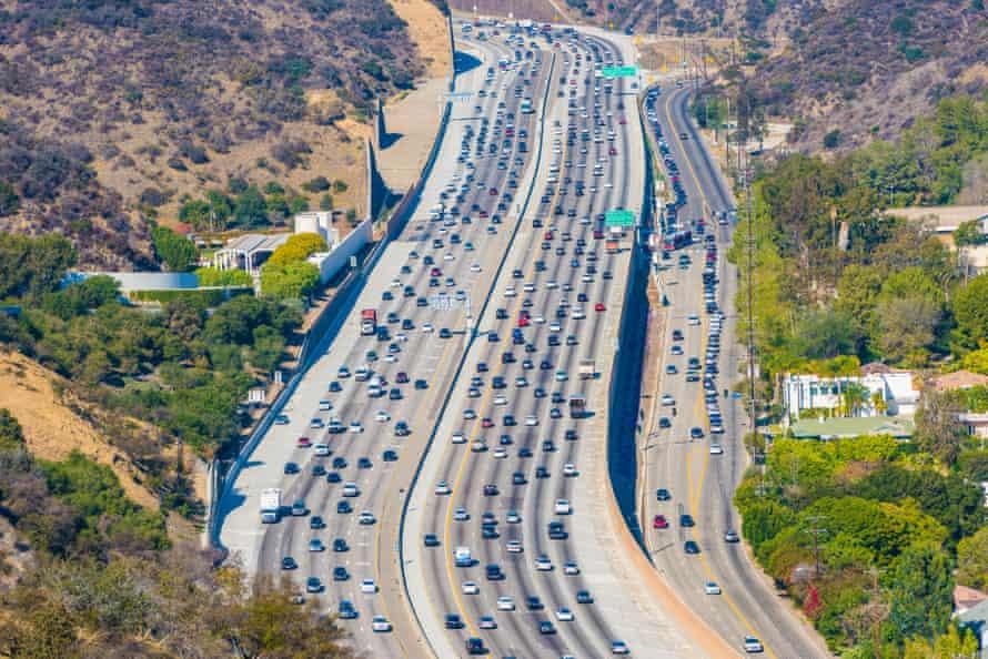 A freeway in Los Angeles.