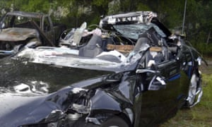 The Tesla Model S in which Joshua Brown was killed while the Autopilot system was engaged.