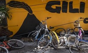 Abandoned bicycles on Gili Trawangan.