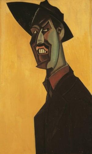 The 1921 self-portrait Mr Wyndham Lewis As a Tyro.