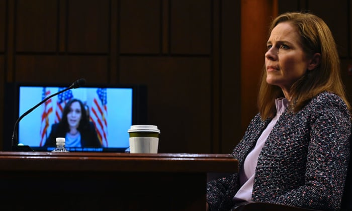 Amy Coney Barrett refuses to tell Kamala Harris if she thinks climate change is happening