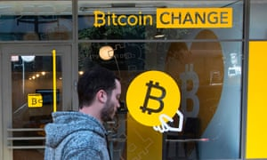 A Bitcoin Change shop in the Israeli city of Tel Aviv.