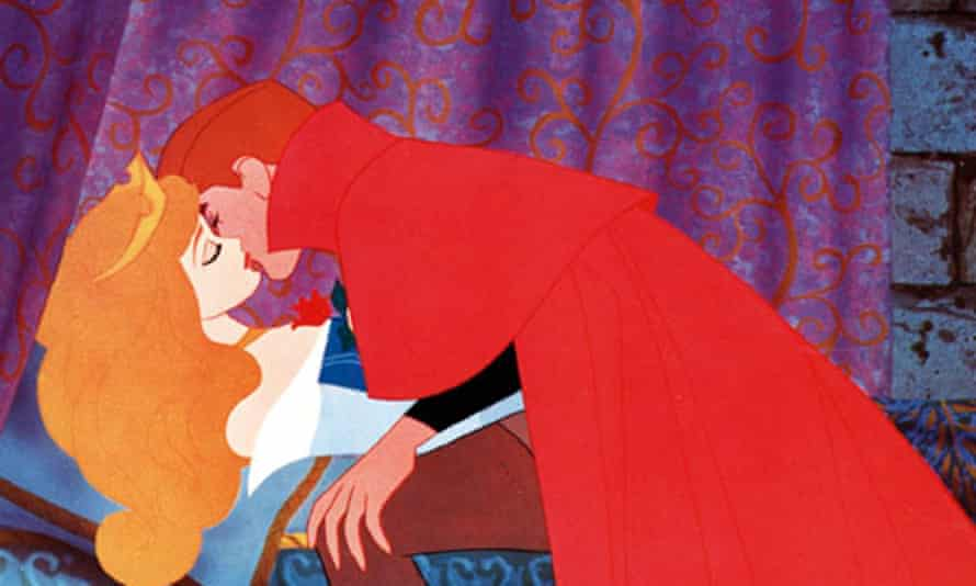 Disney's 1959 Sleeping Beauty, in which a princess is woken by a prince's kiss.