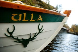Ullapool's boat adorned with the Caberfeidh emblem. The name means a stag's antlers in Scottish Gaelic.