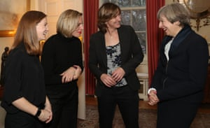 Olympic sporting stars Katherine Grainger, Kate Richardson-Walsh, and Helen Richardson-Walsh attend the International Women's Day reception at 10 Downing Street hosted by Prime Minister Theresa May