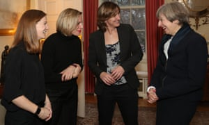 International Women's Day<br>Prime Minister Theresa May greets (centre right to left) Katherine Grainger, Kate Richardson-Walsh, and Helen Richardson-Walsh during an International Women's Day reception at 10 Downing Street in London. PRESS ASSOCIATION Photo. Picture date: Wednesday March 8, 2017. See PA story POLITICS Women. Photo credit should read: Jonathan Brady/PA Wire
