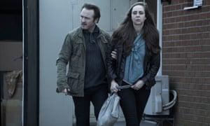 Dan (Lars Ranthe) and Sofie (Lisa Linnertorp) in The Bridge.