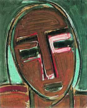 Wifredo Lam's Self-Portrait, III, 1938.