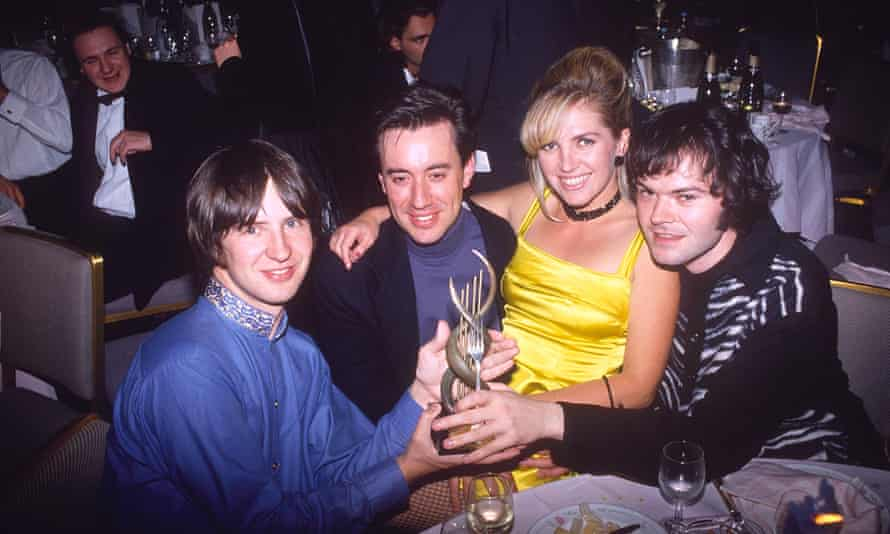 Saint Etienne their Mercury prize award at the Savoy hotel, London, in 1992.