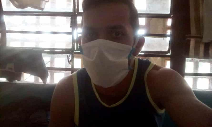 A Whatsapp photo shared with by one of the detained Venezuelan migrants in the border town of Ureña.