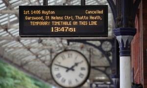 A sign at Poulton-le-Fylde railway station