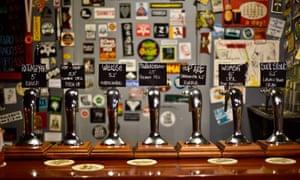 Beers at Alvarado Street pub, Rome