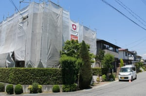 Unusual sight … a house in Midorigaoka undergoing renovation.