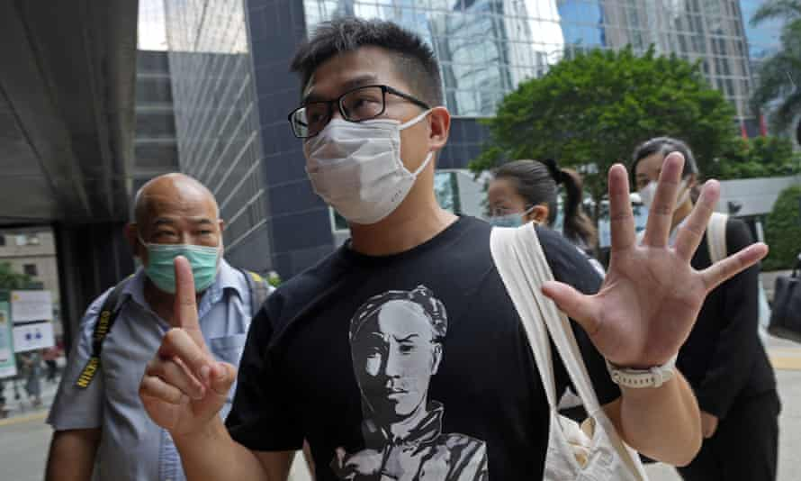 Activist Raphael Wong was one of seven pro-democracy activists sentenced in Hong Kong for their anti-government protests in 2019.