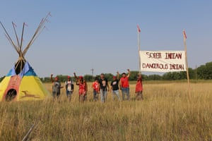'This tipi rising here represents the end of that oppression'.