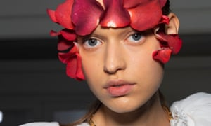 'An artist who works with makeup': Isamaya Ffrench's vision for a Giambattista Valli model.