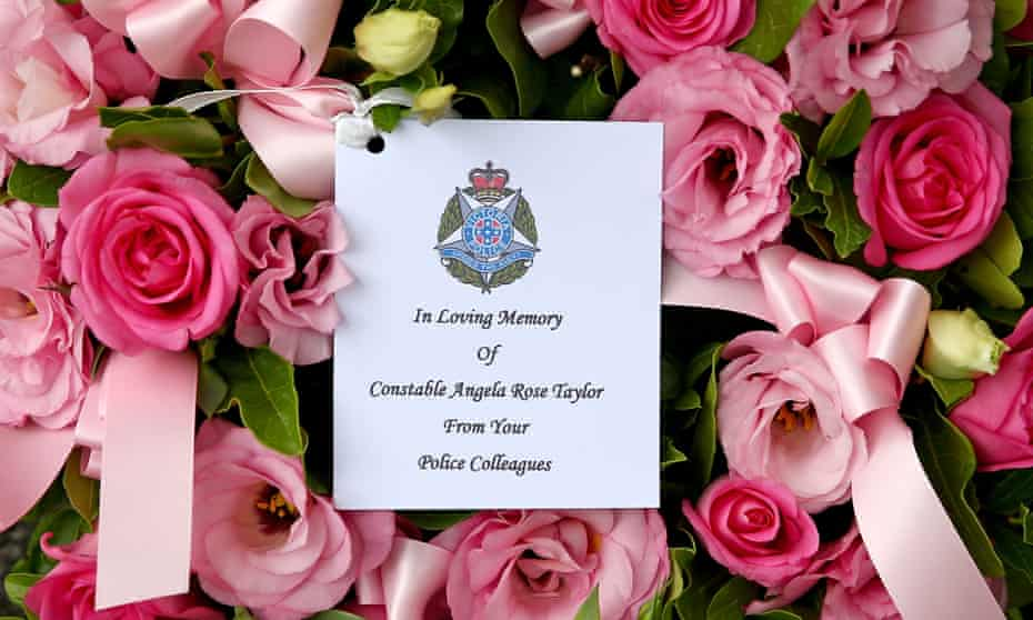 Flowers in memory of Constable Angela Taylor