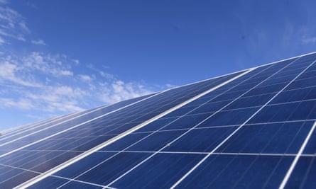 Solar panels in Australia.