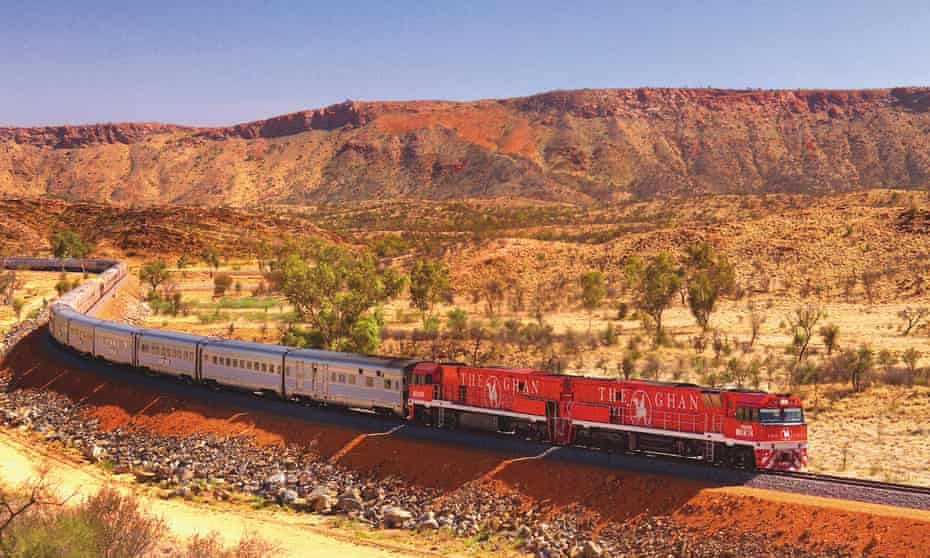 The Ghan's 2,979km journey from Darwin to Adelaide allows its guests to see inland Australia unadorned.