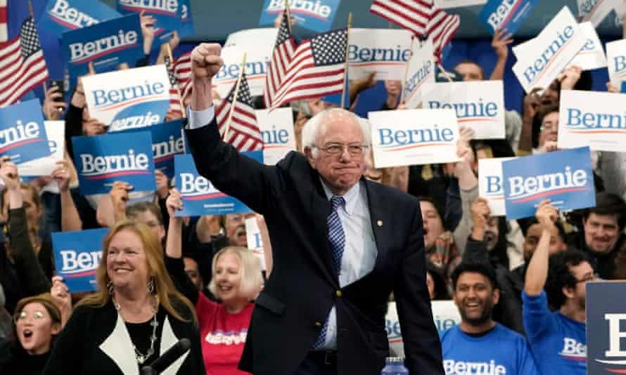 Bernie Sanders takes the stage