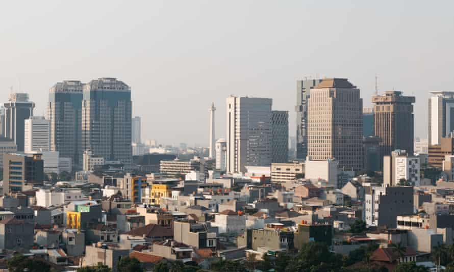 The view of Central Jakarta from Cosmo Park