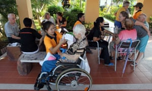 Swiss guests with Alzheimer's disease in a care home in Chiang Mai, Thailand.