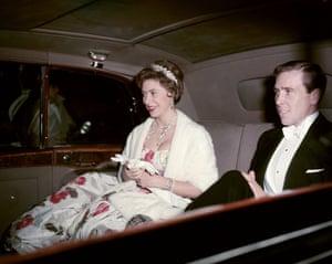 Princess Margaret with Lord Snowdonin London, 1961