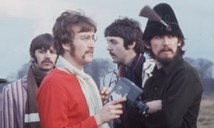 This colour photograph of The Beatles in Knole Park, Sevenoaks was taken by Jane Bown during the filming of Strawberry Fields in 1967. This archive teaching resource explains the rarity of these images as Bown principally shot in black and white, abandoning colour after three years using it for the Observer Colour Magazine in the mid 1960s. We can confirm the exact date this image was taken as 31 Jan 1967 thanks to a note in one of Bown's diaries held in the archive, GNM Archive ref: JHB/7/1