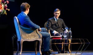 Jacob Rees-Mogg speaking at the London Palladium for a Spectator event last night.