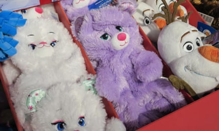 Build-A-Bear teddy shells at its New York store.