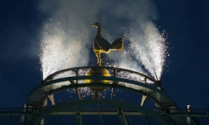 The golden cockerel on top of the South Stand gets its own fireworks
