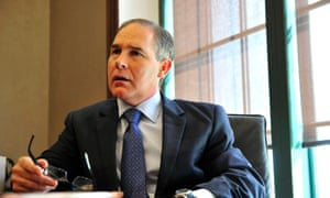 Oklahoma attorney general Scott Pruitt, Donald Trump's nominee for head of the Environmental Protection Agency, has claimed scientists disagree about the causes and extent of global warming.
