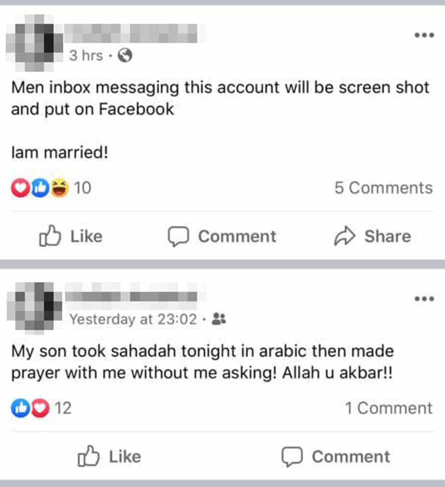 Post sent by a Spanish woman in the camp