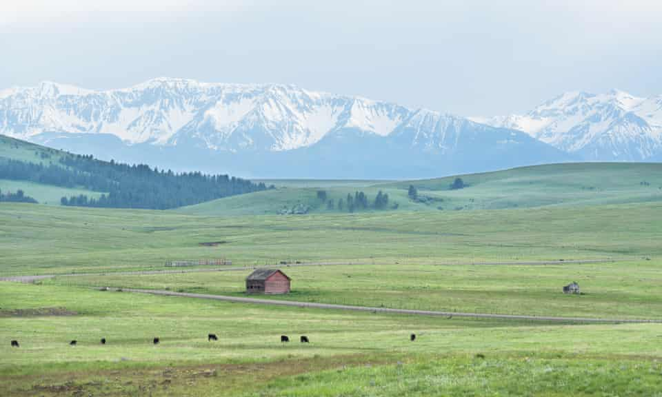 The Zumwalt Prairie against the backdrop of the Wallowa Mountains in north-east Oregon.