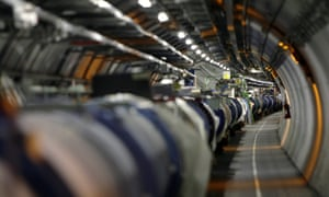 The Large Hadron Collider in its tunnel at Cern, near Geneva, Switzerland